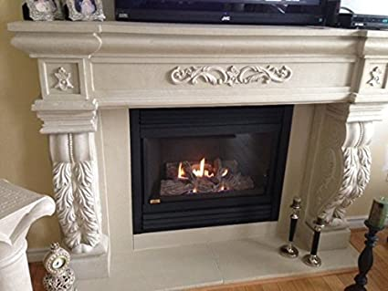 amazon com butterflydeco inc 72 verona cast stone fireplace rh amazon com fireplace mantels stores in miami fireplace mantels stores