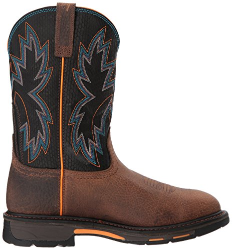 Ariat Werk Mens Workhog Roofvogel Bouw Boot Aarde / Zwart Slangenprint