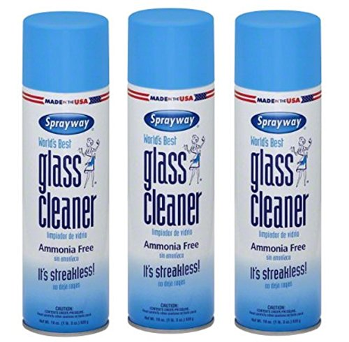 Sprayway 19 Oz Glass Cleaner Aerosol (Pack of 3) Made in USA Brand New and Fast Shipping