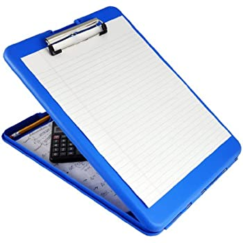 Saunders Blue SlimMate Plastic Storage Clipboard – Light Weight, Polypropylene Clipboard for Students, Teachers, Parents, Sales, Utility, Industrial, Office Professionals. Stationary Items