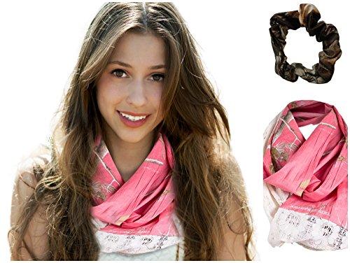 Realtree Infinity Scarf RG Camo & Lace + bonus Max-4 Scrunchie (Sugar ()