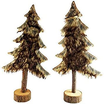 Cleanprince 2 Unidad Set Árbol Árboles de Navidad 39cm Alto Abeto ...