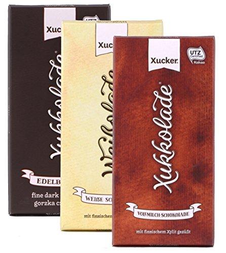 Schokoladen-Mix-Set mit Xylit (3 x 100 g)