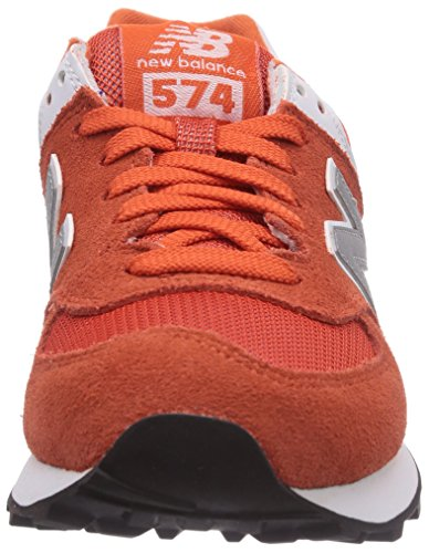 888546369719 - New Balance Men's ML574 Picnic Pack Collection Classic Running Shoe, Orange/Silver, 11.5 D US carousel main 3