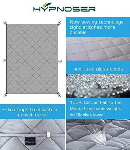 51nxYhau8nL - Dr. Hart's Weighted Blanket Kid's Quilt | Heavy Gravity Blanket for Anxiety Relief & to Improve Sleep | Natural Sleep Aid & Stress Relief | Calming Weighted Comforter & Cover | 15 lbs | 60x80
