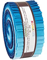 "Robert Kaufman RU-440-40 Strips Kona Cotton Midnight Oasis Fabric, 2-1/2"""