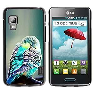 Carcasa rígida TaiTech / - Tropical verde LG Optimus L5 II - pluma Dual E455 E460