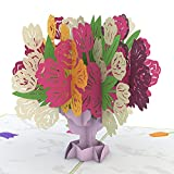 Lovepop Tulip Bouquet Pop Up Greeting Card, Flower Pop Up Card, Lovepop Card, Anniversary Card, Spring Card, Summer Card, Card for Mom