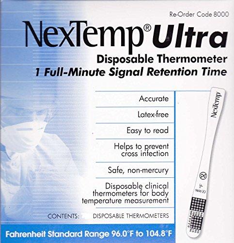 Одноразовые термометр NexTemp Ultra - 100 пакет