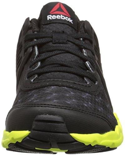 Reebok Zigtech Grandes y zapatillas de running rápido (niño pequeño / niño grande) Black/Solar Yellow