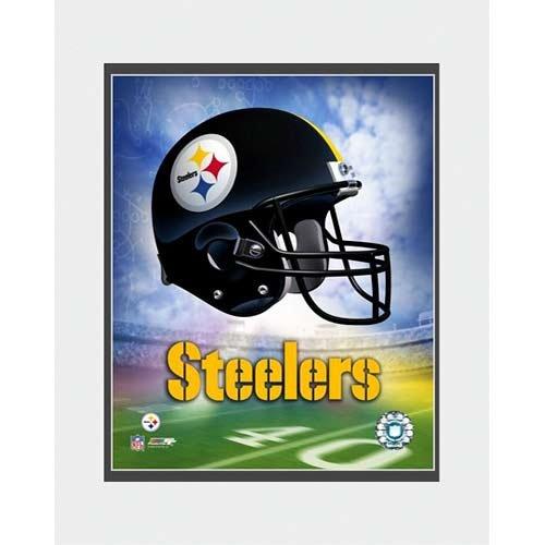 Photo File Pittsburgh Steelers Helmet Logo 8x10 Matted Photo