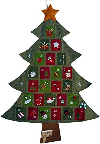 Hanging Fabric Christmas Advent Calendar Countdown to Christmas