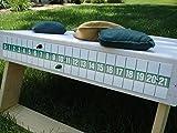 Bean Bag Toss Cornhole Game Board Scoreboard Green on White