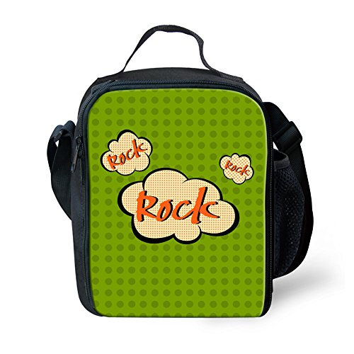 FOR U DESIGNS Cool Punk Teen Boys Girls School Shoulder Lunch Bags Thermal Warm Food Holders