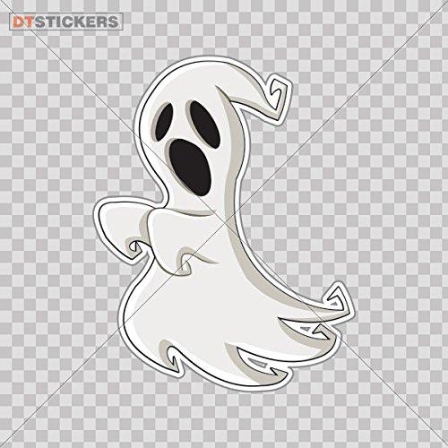 (Decal Happy Halloween Ghost Car window jet ski (4 X 3,12 In. ) Fully Waterproof Printed vinyl)