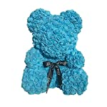 Fancy-Supplies-16-Teddy-Bear-Forever-Roses-Artificial-Rose-Anniversary-Christmas-Valentines-Gift-Red-Pink-White-Blue-16-One-Bear-Acrylic-Box-Blue