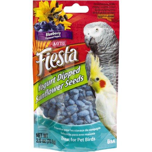 Kaytee Pet Products BKT100502767 Fiesta Yogurt Dipped Sunflower Seed Avian Bird Treat, 2.5-Ounce, Blueberry Flavor, My Pet Supplies