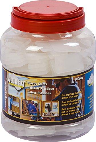 Shepherd Hardware 9436 Wedge-It Plastic Shims, 300-Pack Jar by Shepherd Hardware (Image #2)