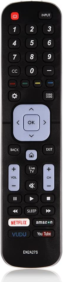 Remote Control Replacement Smart Remote Control for EN2A27S for Sharp TV Remote Controller with Long Control Distance for Sharp LC-40N5000U / LC-43N5000U / LC-43N6100U