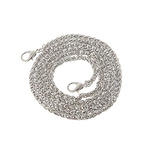 Strap Metal Handle Thobu 120cm Silver Shoulder Bag Purse Chain Handbag Crossbody Replacement Silver FwnT4qt