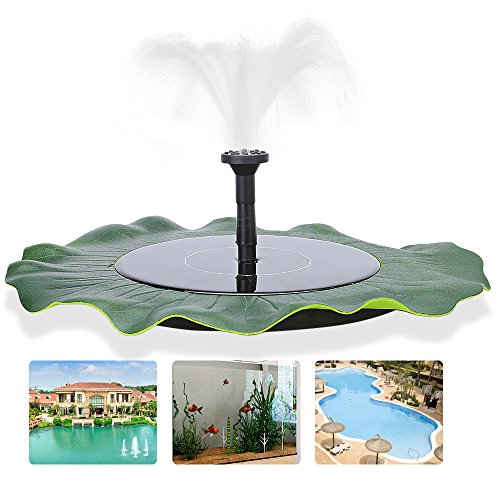 Leaf Outdoor Fountain - zqasales Solar Fountain, Garden Fountain Artificial Outdoor Fountain For Home Family Garden Park Decoration (Lotus Leaf Shape)