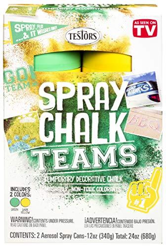Testors 334335 Spray Chalks Teams, Green/Dark Yellow