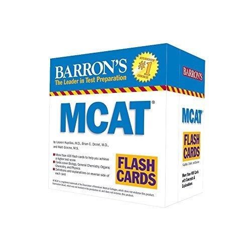 Barron's MCAT Flash Cards by Jay B. Cutts M.A. (2015-06-01)