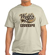CafePress - Worlds Best Grandpa - 100% Cotton T-Shirt