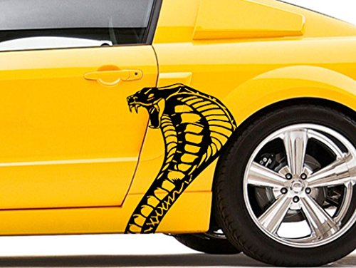 Clausen's World Cobra Snake Head Body Car Decal - Vinyl Graphics 20.5
