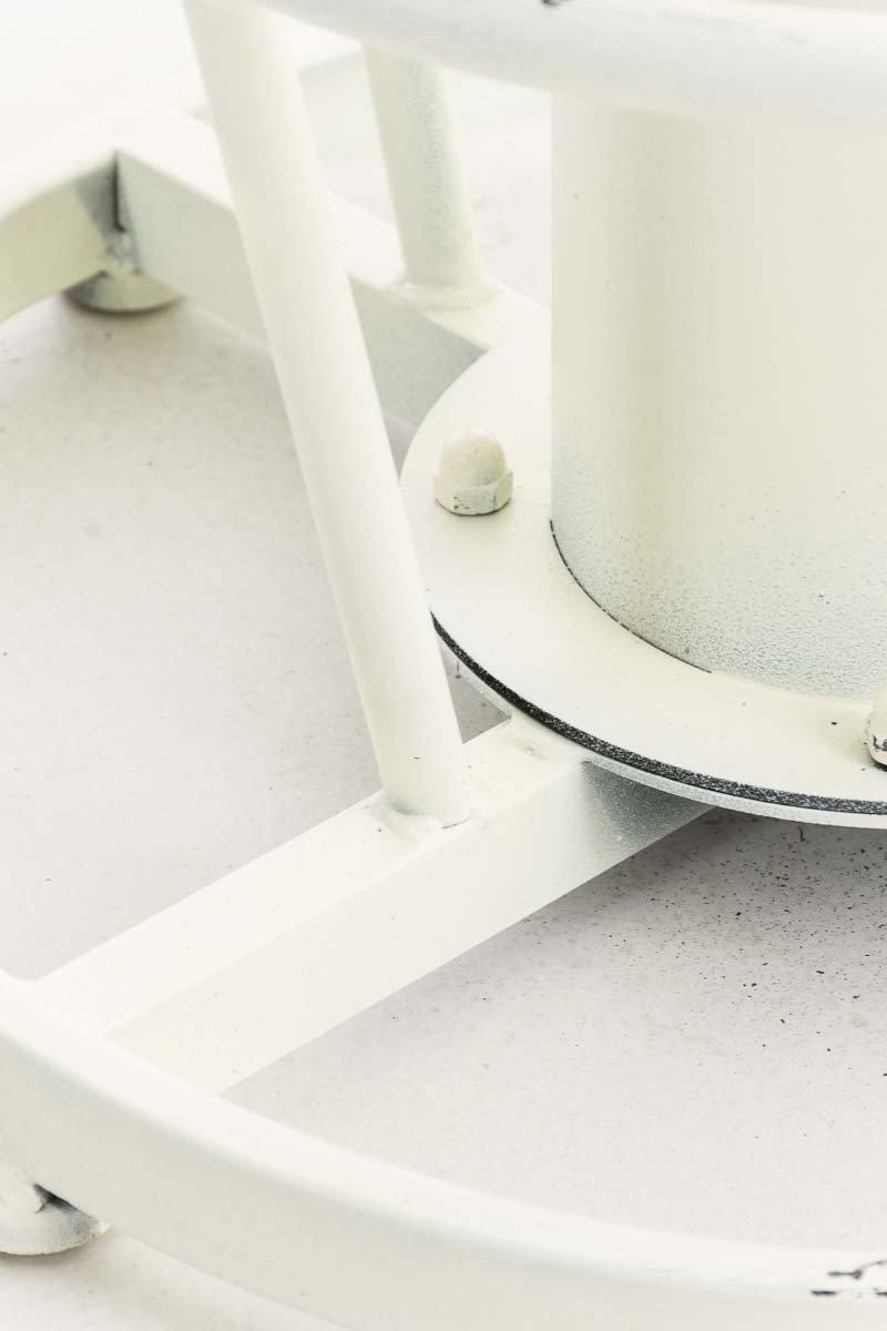Tavolo Bar Cucina Industriale I Tavolo Legno Regolabile 100-123 cm Bianco Antico CLP Tavolo Rotondo Ruhr /Ø 60 cm