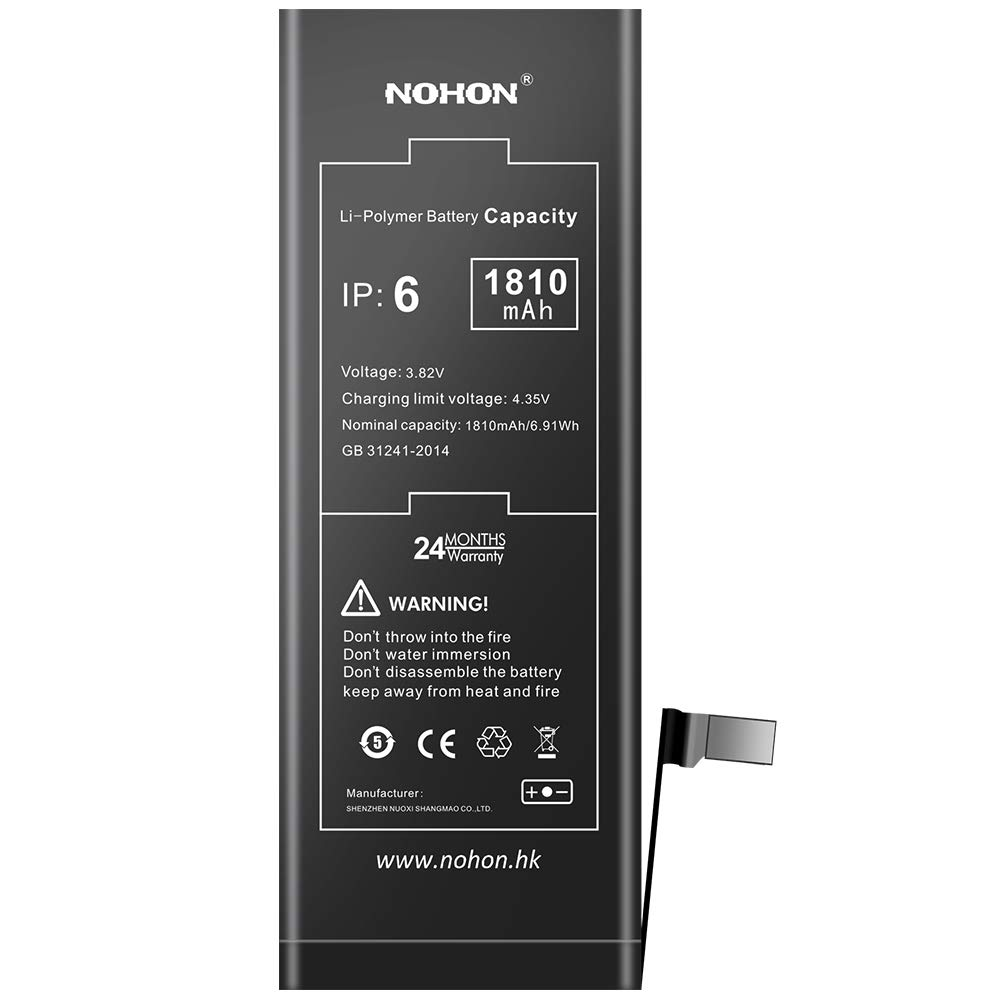 2225 mAh Battery Replacement Compatible for iPhone 6s NOHON High Capacity Li-ion Battery with Complete Repair Tool Kit and Instructions Included 24 Months Warranty