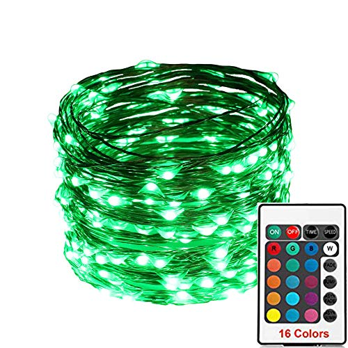 ASERTYL 100 Led 16 Colors String Lights Christmas Decor String Lights Electric Plug-in Multi Color Change Firefly Twinkle Lights for Bedroom Party Wedding Halloween Christmas Decor