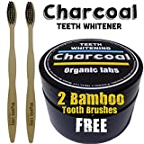 100% ACTIVATED ORGANIC COCONUT CHARCOAL + 2 FREE BAMBOO BRUSHES - BEST TEETH WHITENING SOLUTION - PREMIUM QUALITY. A PORTION OF THE SALES GOES TO HURRICANE HARVEY RELIEF.