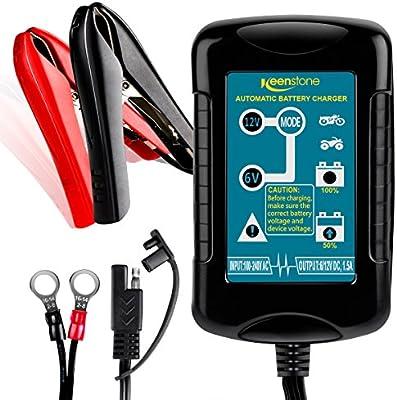 Keenstone 1.5A Cargador y Mantenedor de Baterías 6V/12V ...