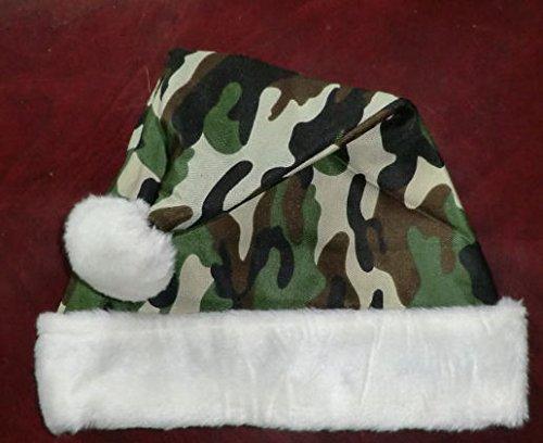 Deluxe Camouflage Santa Hat