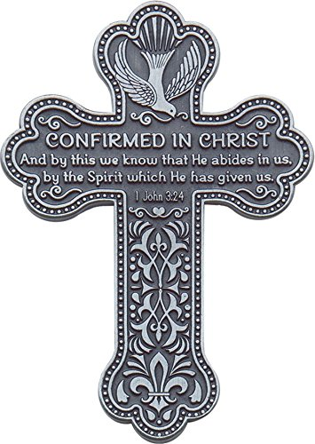 CA Gift PMC113 Confirmation Message Wall Cross with Space for Engraving, 5-1/2 5-1/2 Cathedral Art