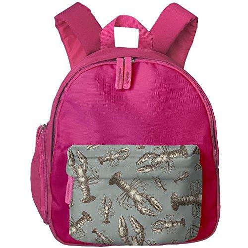 Lobster Sketch Children Backpacks Cute Floral Print School Bag Andrea Lobster
