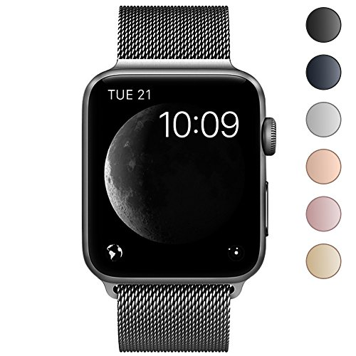 214 Series (Lelong aa-214 Apple Watch Band,Milanese Loop Fully Magnetic Clasp Stainless Steel Mesh iWatch Band for Apple Watch Series 3 Series 2 Series 1 Sport & Edition- 42mm Space Gray)