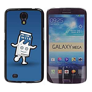 Paccase / SLIM PC / Aliminium Casa Carcasa Funda Case Cover - Carton Character Blue Happy Kids - Samsung Galaxy Mega 6.3 I9200 SGH-i527