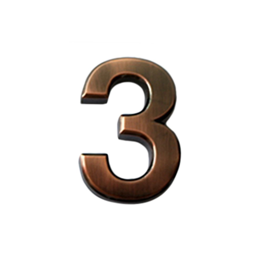 (Pack of 4PCS) Aspire Bronze ABS 1.4 H/2 H/2.75H House Hotel Mailbox Number Sign, Digit (0-9), Adhesive Numbers-5-2 H Adhesive Numbers-5-2 H LD0016_5-2H