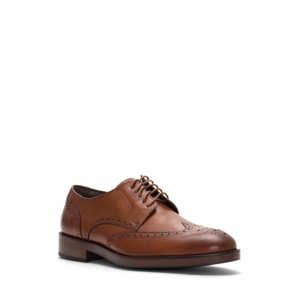 Cole Haan Mens Harrison Grand Short Wingtip Oxford 14 British Tan by Cole Haan (Image #1)