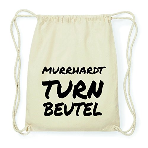 JOllify MURRHARDT Hipster Turnbeutel Tasche Rucksack aus Baumwolle - Farbe: natur Design: Turnbeutel