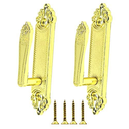 (Ailejia 1 Pair Curtain Holdbacks Tieback Hooks Decorative Wall Hooks Zinc Alloy Multi use Wall Hook (Gold))