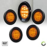 4PC-25-Round-10-LED-Light-2-in-1-Reflector-Polycarbonate-Reflector-13-LEDs-DOT-Certified-2-Year-Warranty-Side-