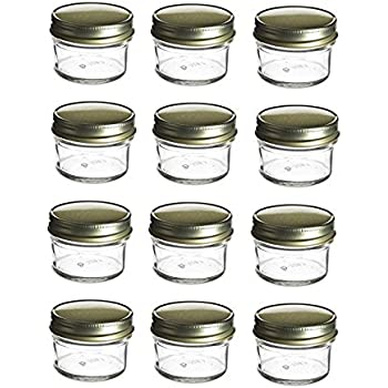 Amazoncom Ball Quilted Crystal Regular Mouth 4 oz Glass Mason Jars