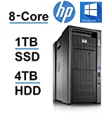 HP Z800 Workstation (Intel QUAD CORE Xeon 3.33GHz Processor, 1TB SSD, 4Tb HDD, 48GB RAM, USB 3.0, Windows 10 Pro OS) Black (Certified Refurbished)