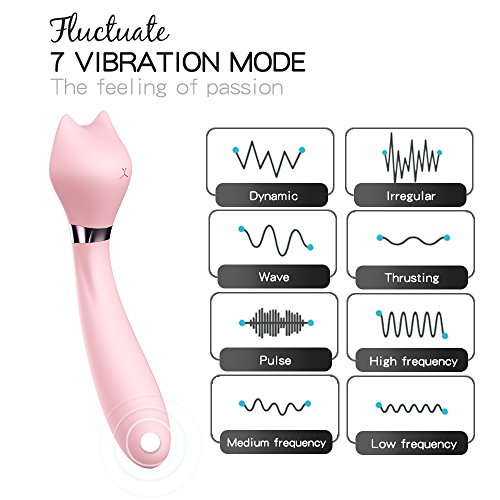 Cat Therapeutic Wand Massager Cordless Waterproof With 7 kinds of Vibration Mode,Vibrator for a Woman, NMuscle Massager,Valentine's Day Gif