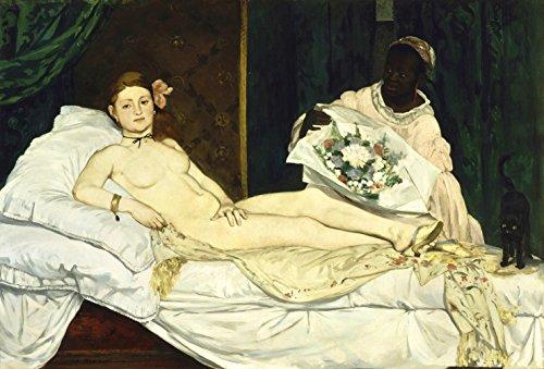 Edouard Manet - Olympia 1863, Size 12x18 inch, Canvas Art Print Wall décor ()