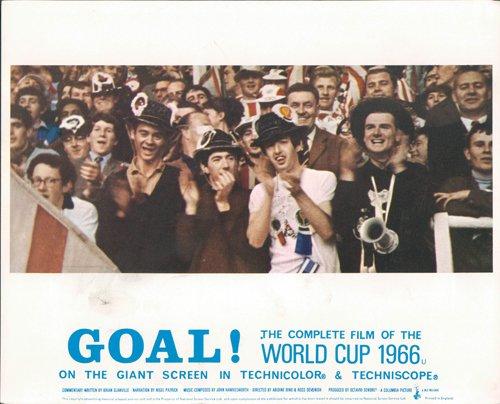 GOAL! THE WORLD CUP 1966 ENGLAND FOOTBALL FANS RARE ORIGINAL LOBBY CARD
