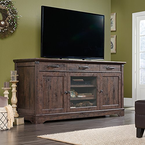 Collection Tv Credenza (Sauder Carson Forge Credenza in Coffee Oak)